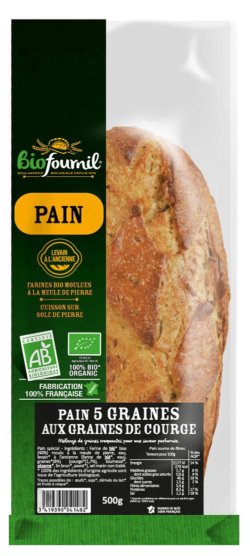 Pain 5 graines Biofournil